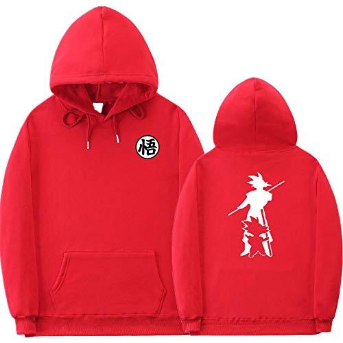 NC Herren Herbst Und Winter Loose Street Plus Fleece Goku Kapuzenpullover Dragon Ball Print Pullover Lässiger Hoodie XL
