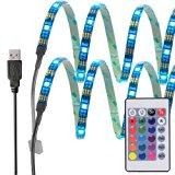 InnoBeta® 50cm(19.6 Zoll)X2 Mehrfarben -LED-Bias Hintergrundbeleuchtung Lighting DC5V 7.2W IP65 flexible wasserdichte SMD5050 RGB Cuttable USB-Streifen für TV, HDTV, LCD-Bildschirm, Laptop, PC, Outdoor, Schlafzimmer, bessere Atmosphäre und reduzieren Überanstrengung der Augen
