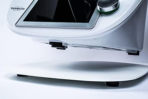 ECHTSTAHL Gleitbrett passend für Thermomix® TM5 / TM6 - Made in Germany - Aus hochwertigem pulverbeschichtetem Stahl | Weiß