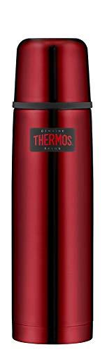 THERMOS Thermosflasche Edelstahl Light&Compact, Edelstahl rot 750ml, Isolierflasche mit Trinkbecher 4019.248.075 spülmaschinenfest, Thermoskanne hät 18 Stunden heiß, 24 Stunden kalt, BPA-Free