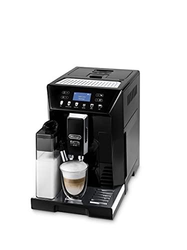 De'Longhi Eletta Evo ECAM 46.860.B Kaffeevollautomat mit Milchsystem, Cappuccino und Espresso auf Knopfdruck, LCD Display und Sensor-Touch-Tasten, schwarz