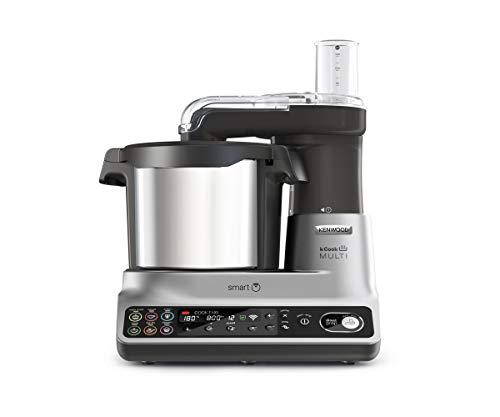 Kenwood kCook CCL450SI Multifunktions-Küchenmaschine mit WLAN, steuerbar mit einer App vom Handy, mit 600 kostenlosen Rezepten, integrierte Waage, 1500 W, Fassungsvermögen 4,5 l