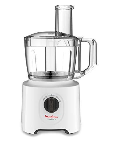 Moulinex FP244110 Küchenmaschine, multifunktional, Easy Force Küchenmaschine, Schüssel 2,4 l, 5 Zubehörteile, 20 Funktionen, 700W, Weiß
