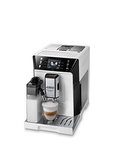 De'Longhi PrimaDonna Class ECAM 550.65.W Kaffeevollautomat mit LatteCrema Milchsystem, Cappuccino und Espresso auf Knopfdruck, 3,5 Zoll TFT Farbdisplay und App-Steuerung, weiß