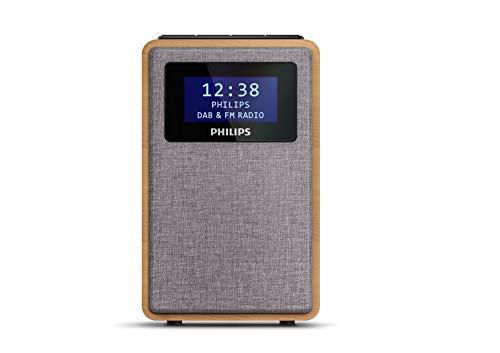 Philips R5005/10 Radiowecker, DAB+ Radio (2,5 Zoll Full-Range-Lautsprecher, Kompaktes Design, DAB+/FM-Radio, Schwarz glänzendes Display, Zweifacher Alarm) - 2020/2021 Modell