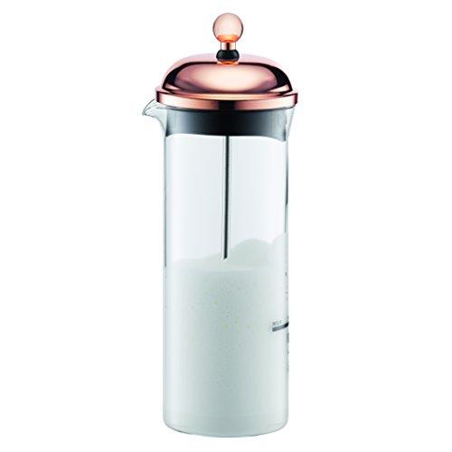 Bodum CHAMBORD Milchschäumer (Manuelles Aufschäumen, 0,15 liters) kupfer