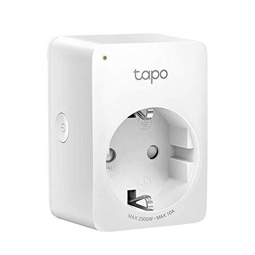TP-Link Tapo WLAN Smart Steckdose Tapo P100, Smart Home WiFi Steckdose, Alexa Zubehör, funktioniert mit Alexa, Google Home, Tapo App, Sprachsteuerung, Fernzugriff, Kein Hub notwendig, Mini