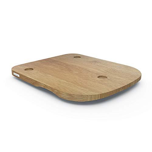 ThermoSlider H V2 - Gleitbrett aus Holz Eiche für Thermomix TM6 & TM5 - Massivholz aus nachhaltiger deutscher Forstwirtschaft