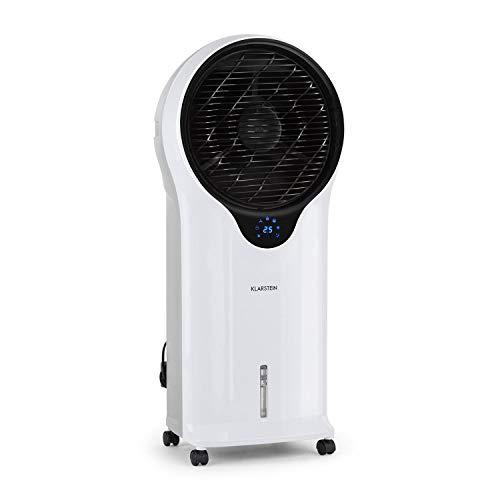 Klarstein Whirlwind - 3-in-1: Luftkühler, Ventilator, Luftbefeuchter, Luftumwälzung: 1600 m³/h, Wassertank: 5,5 Liter, Oszillation, 3 Geschwindigkeiten, 3 Betriebsmodi, Timer, leise, weiß