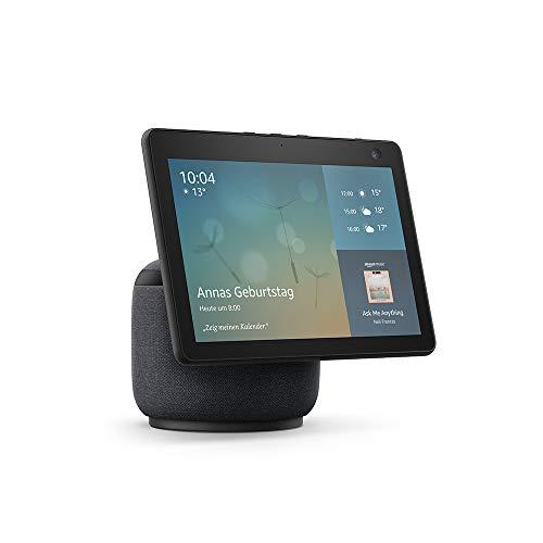 Echo Show 10 (3. Generation)   Hochauflösendes Smart Display mit Bewegungsfunktion und Alexa, Anthrazit