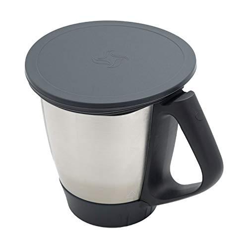 Wundermix Silikon-Deckel für Thermomix TM6/TM5/TM31   Dehnbares Frischhalte-Deckel BPA-frei & wiederverwendbar   perfekt für die Aufbewahrung von Lebensmitteln   Anthrazit   Made in Germany