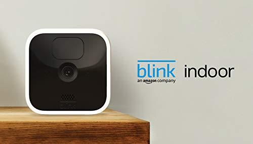 Blink Indoor – kabellose HD-Sicherheitskamera mit zwei Jahren Batterielaufzeit, Bewegungserfassung und Zwei-Wege-Audio   Zusatzkamera für bestehende Blink-System-Kunden
