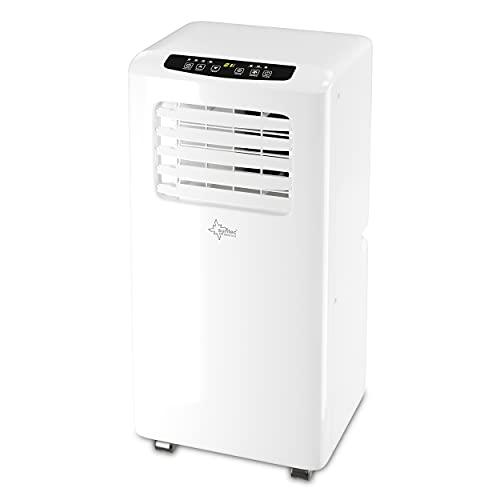SUNTEC Mobiles Klimagerät Impuls 2.6 Eco R290 – Klimaanlage mobil und leise mit Abluftschlauch – Kühler & Entfeuchter für Räume bis 34 qm – Mobile Kühlung für Wohnung & Büro – 9.000 BTU | 2600 Watt