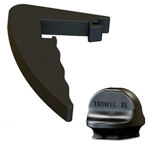 TronicXL Set Drehhilfe + Premium Griff Abnehmbarer Handgriff Ersatzteil für kompatibel mit Lidl Monsieur Cuisine Connect Zubehör schwarz Teigblume Teiglöser Teigentferner Ersatzteile