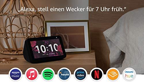 Echo Show 5 (1. Gen, 2019) – Smart Display mit Alexa – Durch Alexa in Verbindung bleiben – Anthrazit