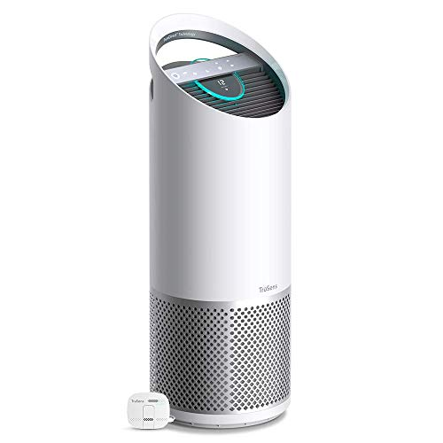 Leitz TruSens Z-3000 HEPA Luftreiniger mit SensorPod, fängt luftübertragene Viren, Allergene, Pollen, Staub & Gerüche, UVC Lampe tötet 98% der Bakterien in der Luft, für Räume bis 70 m², 2415114EU