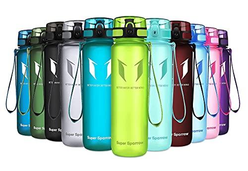 Super Sparrow Trinkflasche - Tritan Wasserflasche - 500ml - BPA-frei - Ideale Sportflasche - Sport, Wasser, Fahrrad, Fitness, Uni, Outdoor - Leicht, Nachhaltig