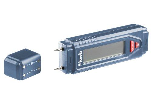 kwb Feuchtigkeitsmessgerät, perfekt als Holz-Feuchtemessgerät oder als Messgerät für Mauerwerk, inkl. 9 V Block-Batterie