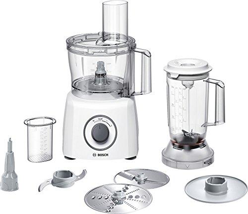 Bosch MCM3200W Kompakt-Küchenmaschine, 800 W, 2,3 L, SmartStorage, weiß/grau