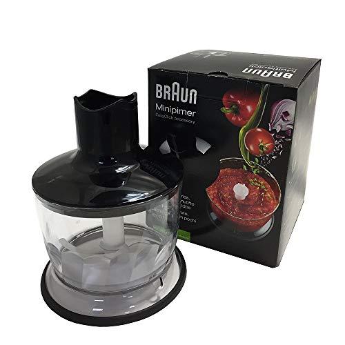 Braun Zerkleinerer Aufsatz MQ 30 - Stabmixer Zubehör kompatibel mit Braun MultiQuick Stabmixer mit EasyClick System, 500 ml, schwarz