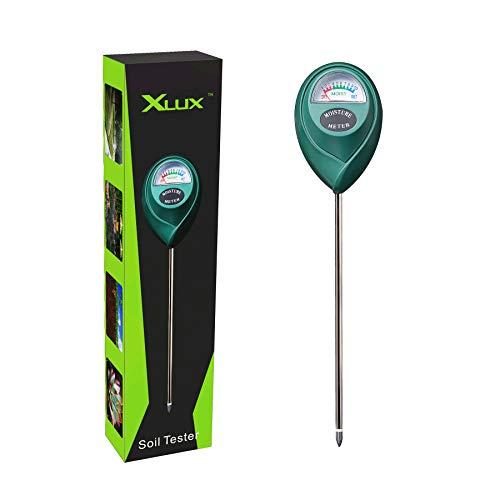 XLUX T10 Boden-Feuchtigkeitsmessgerät Boden-Feuchtigkeitsmesser, Hydrometer für den Garten & die Landwirtschaft, keine Batterien erforderlich