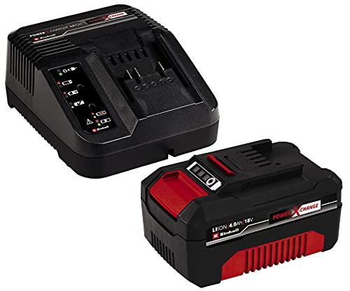 Original Einhell Starter Kit Akku und Ladegerät Power X-Change Volks.Akku (Lithium Ionen, 18 V, 4,0 Ah Akku und Schnellladegerät, passend für alle Power X-Change Geräte)
