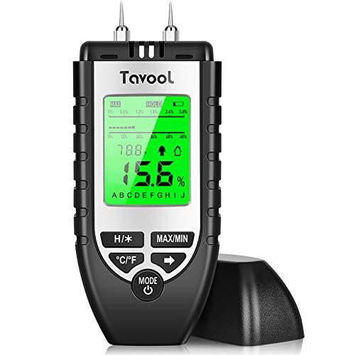 Feuchtigkeitsmessgerät Feuchtigkeitsmesser - Feuchtigkeits-Detector Feuchtigkeitsdetektor mit Batterie und LCD-Display Digitales Feuchtemessgerät für Holz Brennholz Wände Estrich Baustoffen