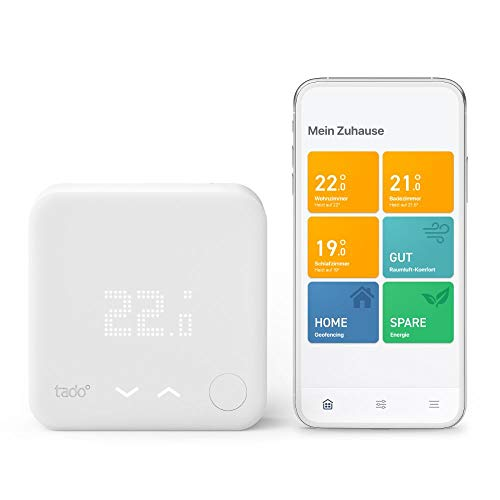 tado° Smartes Thermostat (Verkabelt) Starter Kit V3+ – Intelligente Heizungssteuerung, Einfach selbst zu installieren, Designed in Germany, kompatibel mit Alexa, Siri & Google Assistant