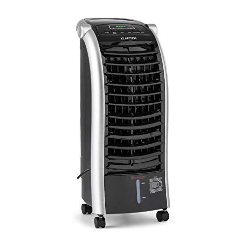 Klarstein Maxfresh - 3-in-1 mobiles Klimagerät: Luftkühler, Ventilator & Luftbefeuchter, 55 Watt, 444 m³/h, 4 Geschwindigkeitsstufen, Oszillation, 51 dB, Timer bis 15 h, Wassertank: 6 L, schwarz