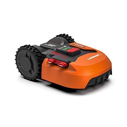 Worx Landroid S WR130E Mähroboter/Akkurasenmäher für kleine Gärten bis 300 qm/Selbstfahrender Rasenmäher für einen sauberen Rasenschnitt