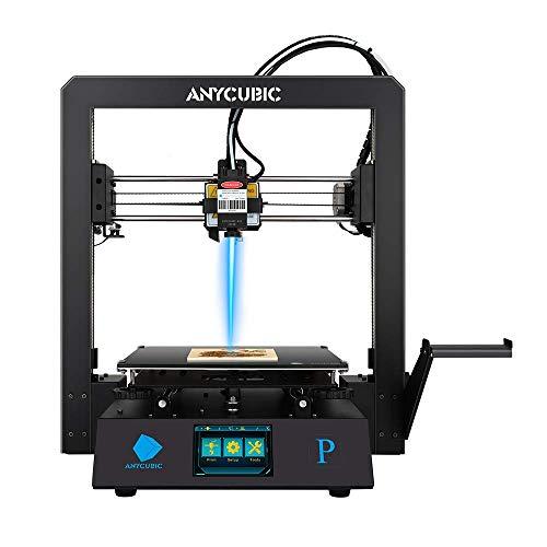 ANYCUBIC Mega Pro FDM 3D-Drucker mit 3D-Druck & Lasergravur 2 in 1 , 210×210×205mm (Druckgröße) & 220×140mm (Gravurgröße), für 1,75 mm Filamente TPU, PLA, ABS geeignet