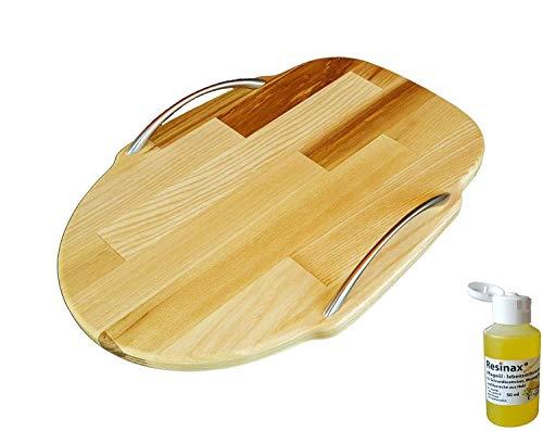 Kitchen Aid Gleitbrett oder Standbrett aus Holz Esche für alle Kitchen Aid + GRATIS Pflegeöl für Schneidbretter und Messergriffe lebensmittelecht in Bio-Qualität