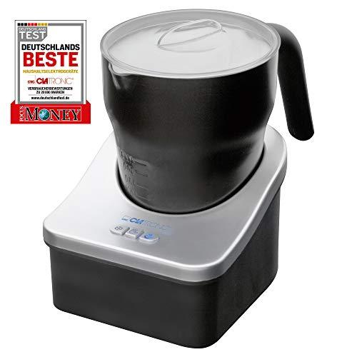 Clatronic MS 3326, 3in1 Milchaufschäumer, Elektronik 3 Funktionsschalter, Milch warm und kalt aufschäumen, Milch erwärmen, Innen und außen antihaftbeschichtet, Milchaufschaummenge ca. 500 ml