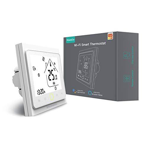MoesGo Smart Wlan Alexa Wasserboiler Thermostat,WiFi Funk Thermostate Fussbodenheizung Raumthermostat 230V für 5A Wasser Boiler,Kompatibel Smart Life Tuya App und Alexa Google Home