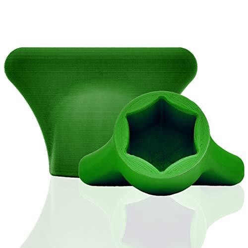 mix-slider - Teigblume für Thermomix, Teiglöser Zubehör für Vorwerk Küchenmaschine TM5 + TM6 3D Gedruckt Made in Germany (Grün)
