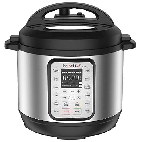 Instant Pot DUO PLUS 5.7L Elektro-Schnellkochtopf.15 intelligente Programme: Schnellkochtopf, Reiskocher, Slow Kocher, Dampfgarer