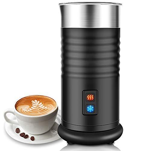 TOPERSUN Automatischer Milchaufschäumer Elektrischer 400W Für heißen und kalten Milchschaum und Milchheizung Ein Klick Steuerung Wenig Lärmrostfreier Stahl Geeignet für Cappuccino order Latte usw