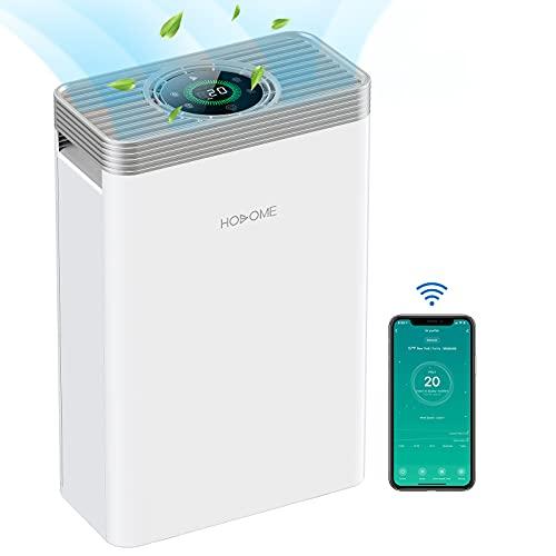 Luftreiniger HEPA, Hosome H13 Leiser Luftfilter, Air Purifier entfernt bis zu 99,97% der Pollen Haustier Hautschuppe usw. Timer Schlafmodus 22dB Leiser, LED Touchscreen, Funktioniert mit Alexa