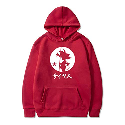 NC Herbst Und Winter Herren Fleece Wärme Und Kältebeständigkeit Bequemer Goku Einfache Mode Sport Pullover Pullover Hoodie M