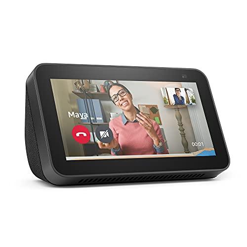 Der neue Echo Show 5 (2. Generation, 2021)   Smart Display mit Alexa und 2-MP-Kamera   Anthrazit