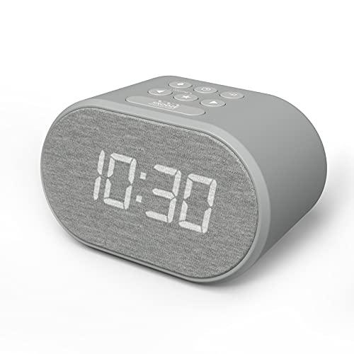 Radiowecker mit USB-Ladeanschluss, Dimmbares LED-Display und Dual-Alarm | Wecker Digital | Radiowecker mit Ladefunktion | Wecker mit Ladestation | Radiowecker Digital | LED Wecker | Digitaler Wecker