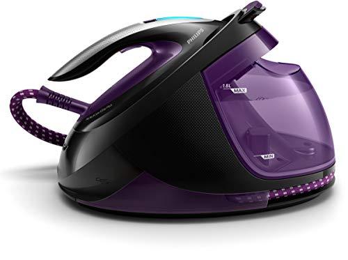 Philips GC9675/80 Dampfbügelstation PerfectCare Elite Plus (2700 W, Optimal TEMP, 7,7 bar, 550 g/Min. Dampfstoß, extrem leicht und leise) violett