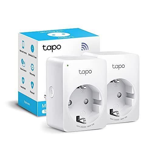 TP-Link Tapo WLAN Smart Steckdose Tapo P100 (2-Pack), Smart Home WiFi Steckdose, Alexa Zubehör, funktioniert mit Alexa, Google Home, Tapo App, Sprachsteuerung, Fernzugriff, Kein Hub notwendig, Mini