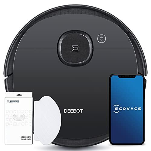 ECOVACS DEEBOT OZMO 950 Care - Saug- & Wischroboter + 50 Reinigungstücher: Staubsaugerroboter mit intelligenter Navigation – Google Home, Alexa, App (Exklusiv bei Amazon)