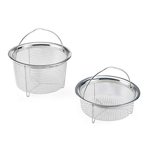 Instant Pot Offizieller Dampfgarer-Set, Edelstahl, 2 Stück