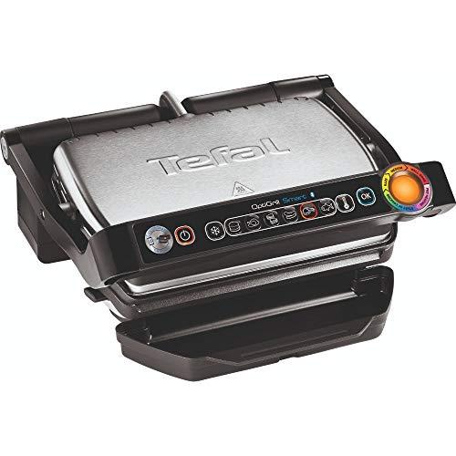 Tefal GC730D OptiGrill+ Smart, Kontaktgrill mit App- Steuerung, Automatische Temperaturanpassung, Antihaft- Beschichtung, Grillfläche 30 cm x 20 cm, Schwarz/ Edelstahl, 2000 Watt
