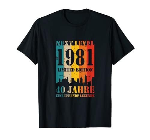 40 Jahre Geburtstag 1981 Next Level Legende Birthday T-Shirt