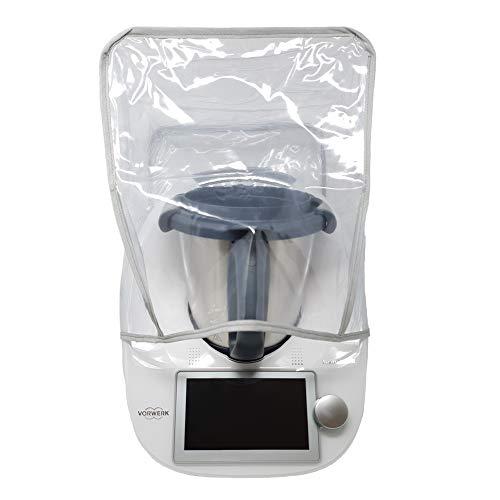 Mix-Slider – Schutzhülle für Thermomix, Abdeckhaube für TM5, TM6, TM31 und andere Küchengeräte (Transparent/Grau)