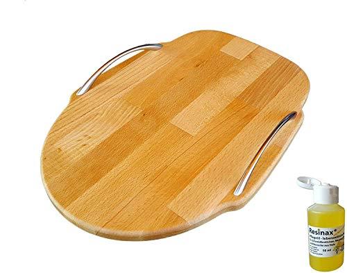 Kitchen Aid Gleitbrett oder Standbrett aus Holz Buche für alle Kitchen Aid + GRATIS Pflegeöl für Schneidbretter und Messergriffe lebensmittelecht in Bio-Qualität