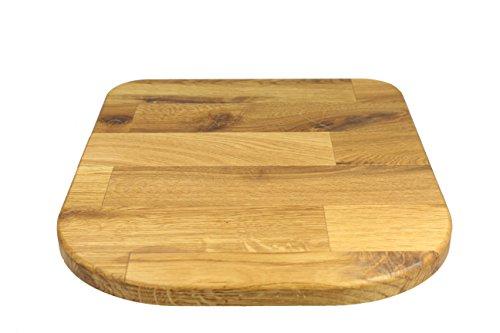 StreamBrush® Premium - Gleitbrett Holz-Gleiter Untersetzer aus Massivholz für den Thermomix TM5 / TM6 / TM31 Eiche SE